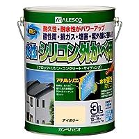 カンペハピオ 水性シリコン外かべ用 アイボリー  3L