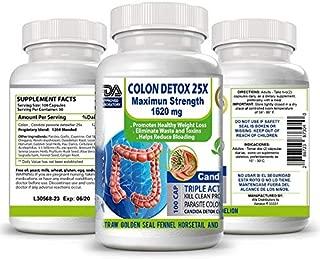 2 Colon Cleanser & Detox for Weight Loss Natural Flora Protector,Herbal Mega Clean Detox Extra Colon Care 200 Capsules, Probiotic - Prebiotic - Detox, Colon Care, no Pain, no Diarreah