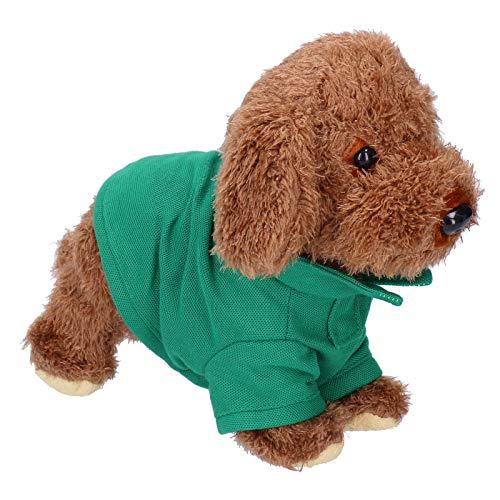Fybida Cómodo Perro de Juguete electrónico Tela de Felpa eléctrica Juguete de Perro Encantador Perro Mascota electrónico para el hogar Regalo para niños(Teddy)