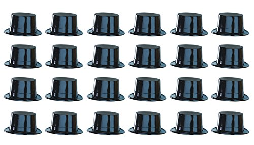 Beistle 66624 Black Plastic Toppers, 24 Per Package