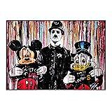 Bildgrafik für Wanddekoration - moderne Pop-Art Abstrakte