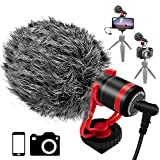 Video Microphone,Tikysky Camera Microphone Phone Mic for Smartphone iPhone DSLR Canon Nikon Sony Panasonic Fuji