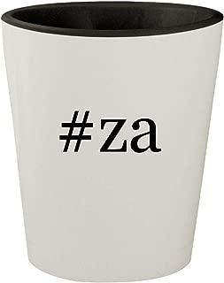 #za - White Outer & Black Inner Hashtag Ceramic 1.5oz Shot Glass
