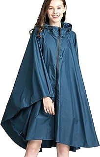 LYY 10 Pacchetti per Adulti monouso Impermeabile Set di Pioggia Pantaloni Split Polvere e Impermeabile per Uomo Donna Escursionismo Pesca Anti-Fog Abbigliamento di Protezione,Blu