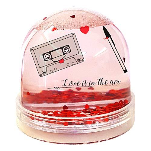 My Custom Style Boules Globes de Neige # San Valentino # 9 x 9 cm Con Cuori Sanvalentino-coppia3
