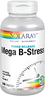 Solaray® Mega Vitamin B-Stress, Two-Stage Timed-Release | Specially Formulated w/ B Complex Vitamins for Stress Support | Non-GMO | Vegan | 240 Tabs