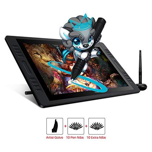 HUION KAMVAS Pro 20 Tableta de Dibujo de gráficos Monitor Pantalla Función de inclinación (± 60 °) Stylus sin batería 8192 Niveles Sensibilidad a la presión 8 Teclas rápidas 1 Barra táctil