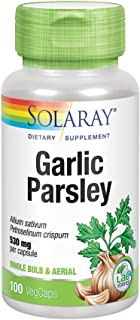 Solaray Garlic Bulb & Parsley Leaf 530mg | Healthy Cardiovascular and Immune System Function Support | Non-GMO, Vegan & La...
