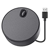 Portable Computer Speaker, KIXAR Small PC Speaker USB Desktop Speaker with 3EQ Mode Stereo Loud Sound Laptop Speaker with Volume Control Compatible with Windows, macOS, Chrome OS System