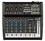 IS 2MIX6XU - Mezclador compacto de 6 canales con grabador USB, interfaz de audio integrada y función Bluetooth