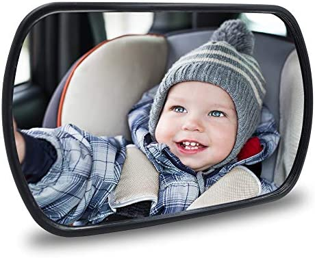 Baby Car Mirror Rear View Baby Car Back Seat Mirror Child Observation Mirror Wide Convex and product image