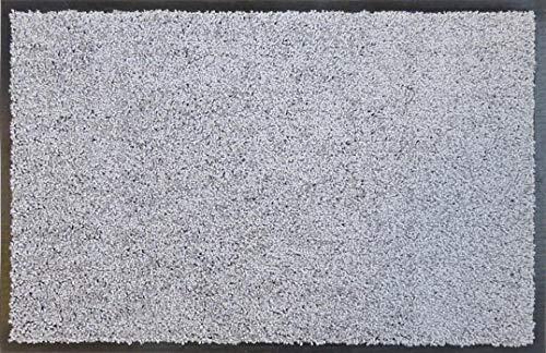 Felpudo de oKu-Tex | Felpudo Eco-Clean | Color Plateado / Gris | Goma reciclada | para Interior | Entrada / Puerta de casa / escaleras / Pasillo | Antideslizante | 60 x 120 cm