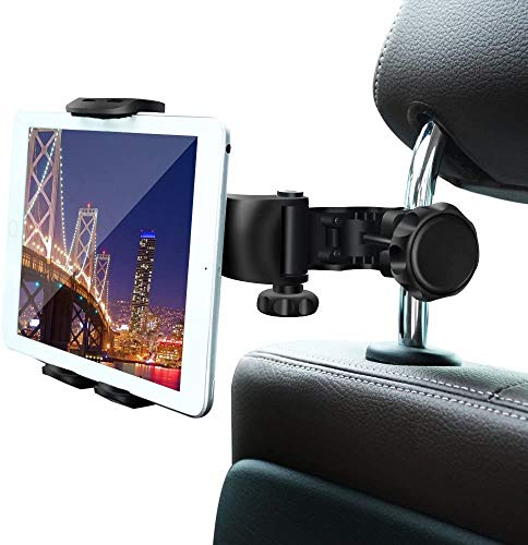 Car Headrest Mount,WBSZDS Car Headrest Tablet Holder for iPad Pro/Air/Mini,Kindle Fire HD,Nintendo Switch,iPhone&Other Smartphones Stand Cradle Bracket Holder for 4''-11''with 360° Angle-Adjustable