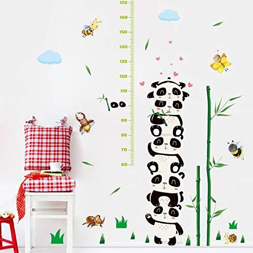 W-L Messlatte Kind Schöner Panda Bambus Höhe Wand-Aufkleber for Kind-Baby Wohnzimmer DIY Dekor Höhe Growth Chart Nursery Kunst-Wandaufkleber