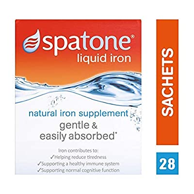 3 x Nelsons Spatone 100% natural iron supplement 28 day 28-day pack by SPATONE IRON PLUS