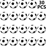 Sports Stress Ball, Mini Foam Sports Ball for School Carnival Reward, Party Bag Gift Fillers (Soccer Ball, 30 Packs)