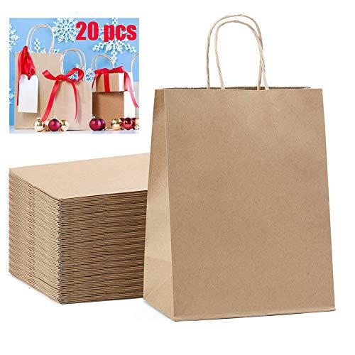 All-Purpose Papiertüten Mit Griffen 15 * 8 * 21 cm Einkaufstaschen Langlebige Kraftpapiertüte Einzelhandel Einkaufstüten Braune Geschenktüten Business-Taschen Bulk