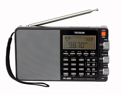 Tecsun PL880 Portable Digital PLL Dual Conversion AM/FM, Longwave & Shortwave Radio with SSB (Single...
