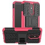 LiuShan Compatible con LG K30 Funda,Heavy Duty Silicona Híbrida Rugged Armor Soporte Cáscara de...