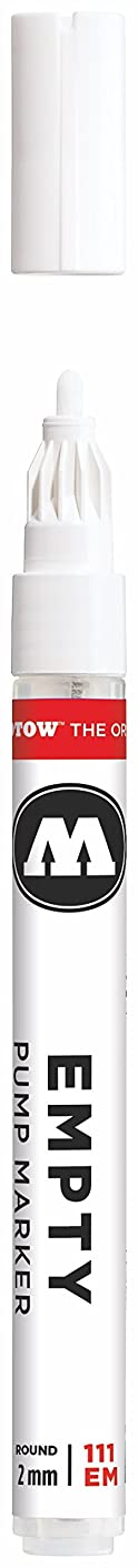 Molotow ONE4ALL Empty Acrylic Paint Marker, 2mm, Use with Molotow ONE4ALL Acrylic Paint Refill (Sold Separately) (111.000)