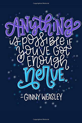 Anything is Possible Journal   Inspiring Quote Ginny Weasley Lined Notebook   Gift for Book Lovers