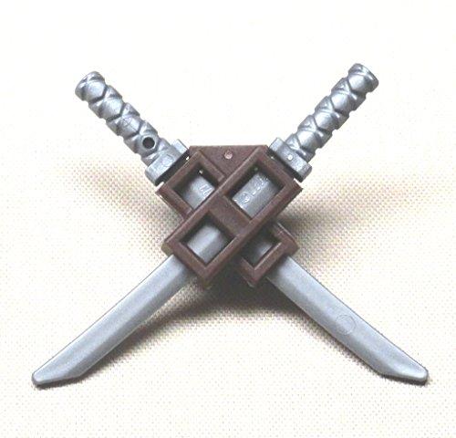 LEGO Dual Scabbard with 2 Silver Katana Swords