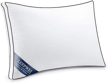 LEEPWEI 枕 安眠 人気 肩こり 通気 快眠枕 高反発枕 高度調節可能 立体構造 丸洗い可能 高級ホテル仕様 43x63cm ホワイト 家族のプレゼント