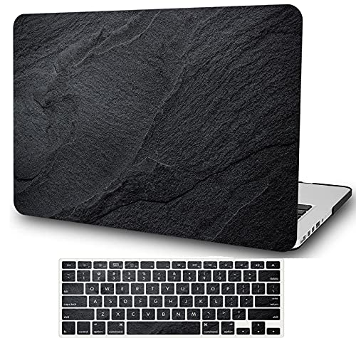 YXUAN - Carcasa rígida para MacBook Air de 13 pulgadas 2020 2021, versión A2337, M1 A2179, color negro