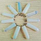 PINGPUNG Cristal áspero 24pcs / Lot Pastilla de Piedra Natural Colgantes de pilares Fahsion Opalite for la Marca de joyería
