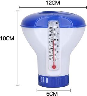 Deyan Flotador de Cloro de Piscina Dispensador de tabletas de Cloro de Piscina Clorador Flotante con termometro para Limpieza de Piscinas