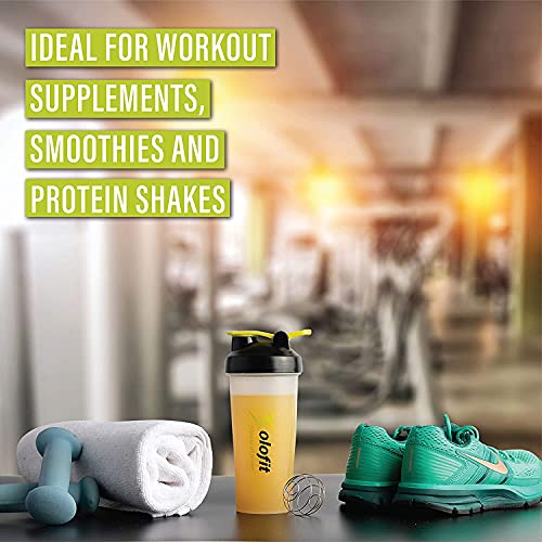 Solofit Protein Shaker Bottles with Shaker Balls– Leak Proof Smoothie & Drink Shaker Bottle – Portable Supplement Mixer Cup - Ideal for Fitness Enthusiasts, Athletes - 28 Ounce (Pack of 3)
