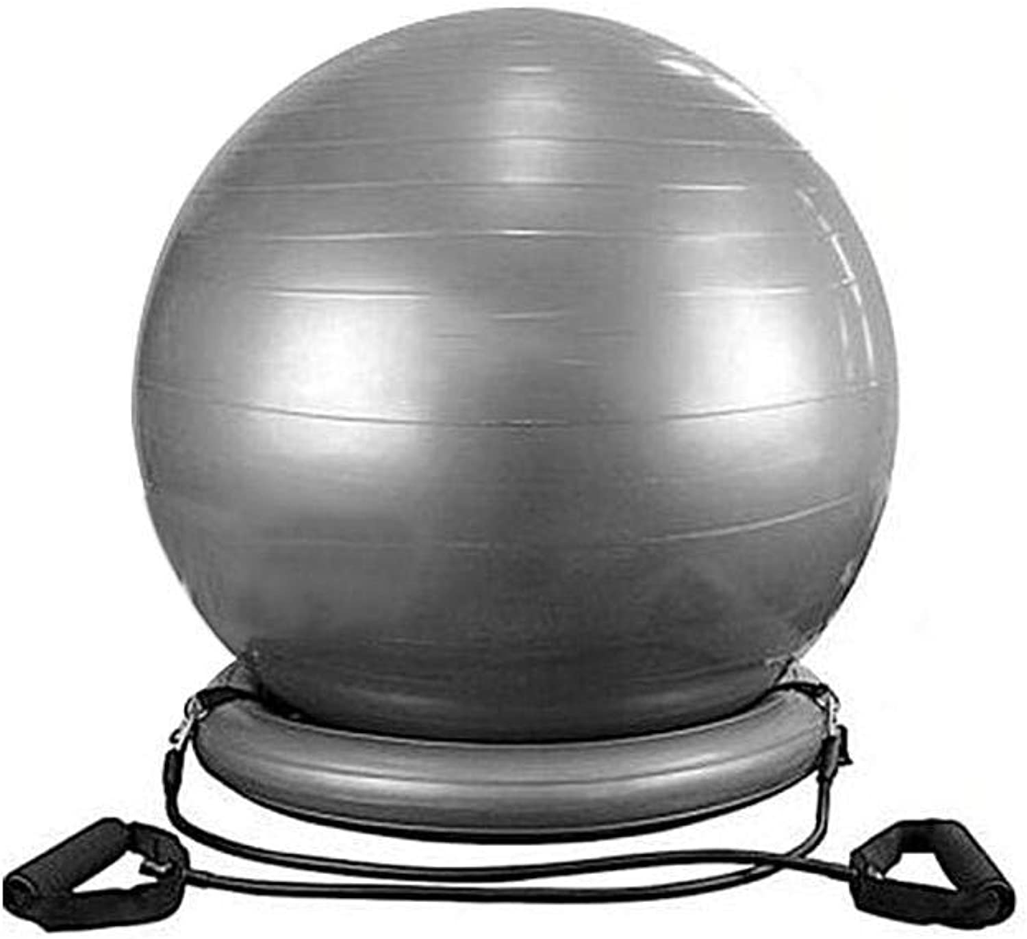 Yoga Exercise Ball, Exercise Ball Chair, ase Ring with Handles 60cm 23.62in Thick Explosion-Proof Yoga Ball Fixed Base, Yoga Ball Base Fitness Yoga Tool for Home Gym & Office (Ring)