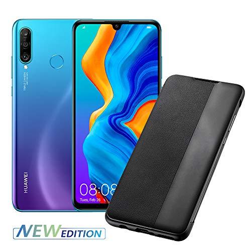 HUAWEI P30 Lite New Edition Smartphone e Cover, 6 GB RAM e 256 GB ROM, Peacock Blue