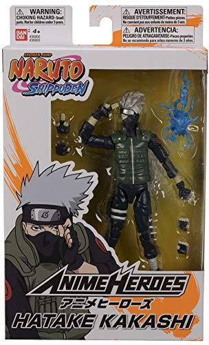 Boneco Articulado Hatake Kakashi - Naruto Shippuden - Anime Heroes - Bandai