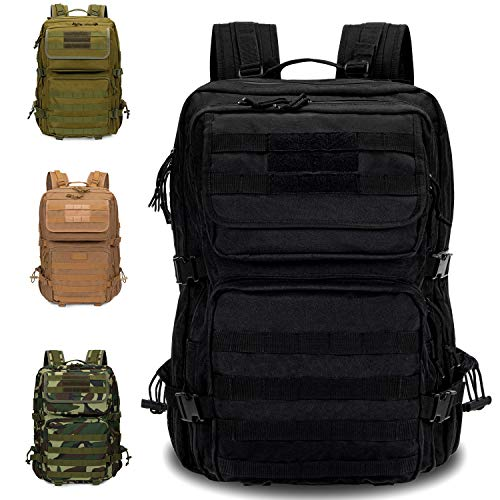 Armybag Waterproof Outdoor & Tactical Backpack 45-47 Litre Volume Military Backpacks Camping & Excursions Survival & Emergency Backpack Large, black