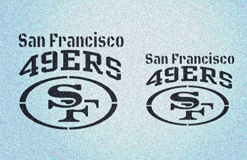 Set of 2 San Francisco 49ers Stencil Football Sport Stencils