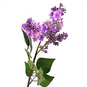 WillowswayW 1Pc Artificial Lilac Flower Garden Home Party Wedding Bouquet Decor – Purple