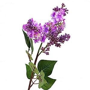 AkoMatial 1Pc Artificial Lilac Fake Flower Bouquet Decor for Home Garden Wedding Party