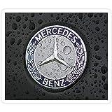 DKISEE 3 pegatinas de vinilo para el logotipo de Mercedes Benz Car Logo 3D para ordenador portátil, teléfono, coches, pegatinas divertidas para ordenadores portátiles, guitarra, nevera, 4 pulgadas