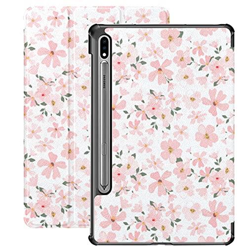 Funda para Samsung Galaxy Tab S7 / s7 Plus Spring Flowery Apple Flowers Soporte Funda Trasera Compatible con tabletas Samsung Funda para Galaxy Tab S7 11 Pulgadas S7 Plus 12,4 Pulgadas