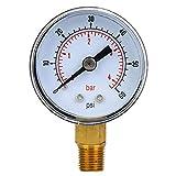 Manómetro mecánico Manómetro Herramienta de medición 1/8 pulgada BSPT Conexión inferi...