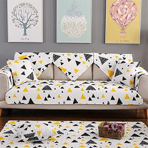 GAOZHEN Funda de sofá de algodón Moderna y Simple, cojín de Asiento de cojín de sofá Antideslizante, Funda de sofá de Sala de Estar Universal de Cuatro Estaciones