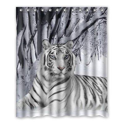 Dalliy Brauch Tiger Wasserdicht Polyester Shower Curtain Duschvorhang 152cm x 183cm