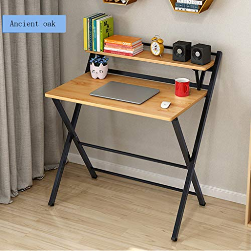 Luonita Folding Desk for Small Space 2 Tiers Computer Desk with Shelf 315quotx 197quotx285quot Folding Study Desk Home Corner Desks Folding Laptop Table for Kids Homework Shipping from CA,NJ