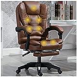 Silla de oficina de piel para oficina Espectacular Presidencia de cuero de adiestramiento del personal Silla de oficina giratoria silla marrón