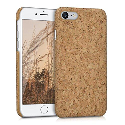 kwmobile Coque Compatible avec Apple iPhone 7/8 / SE (2020) - Coque Housse de Protection pour téléphone en liège Marron Clair
