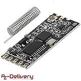 AZDelivery HC-12 433Mhz Funkmodul SI4463 Wireless Serial Port Modul für Arduino mit eBook
