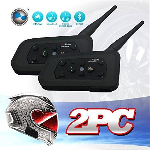 LEXIN LX-R6 2pcs BT Interphone Bluetooth Motorbike...