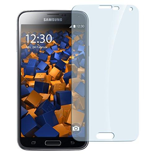 mumbi Hart Glas Folie kompatibel mit Samsung Galaxy S5 Panzerfolie, Schutzfolie Schutzglas (1x)