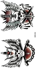 Old School Tattoo Traditionele doodskop Tattoo Sku...